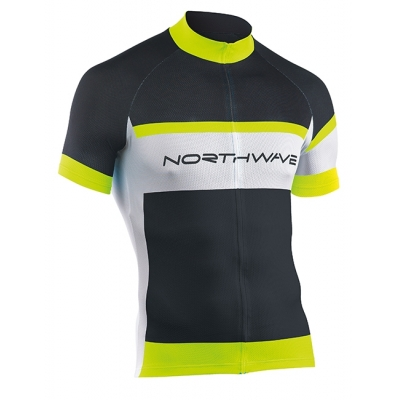 NorthWave Summer Logo Jersey Black-White-YellowFluo