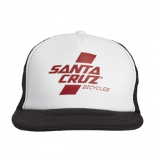 Santa Cruz Parallel Trucker Hat Whte/Burgundy