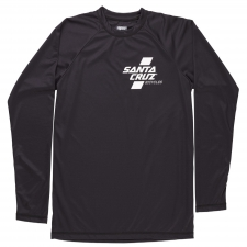 Santa Cruz Parallel L/S Tech Tee - Black